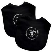 Baby Fanatic® NFL Oakland Raiders 2-Pack Bibs in Grey/Black