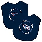 Baby Fanatic® NFL Tennessee Titans 2-Pack Bibs in Teal/Red