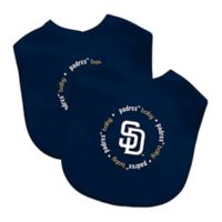 Baby Fanatic® MLB San Diego Padres 2-Pack Bibs in White/Navy