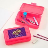 Super Hero Pencil Box in Pink