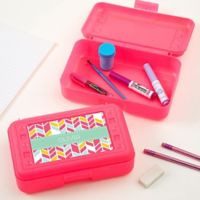 Geometric Shapes Pencil Box in Pink