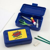 Super Hero Pencil Box in Blue