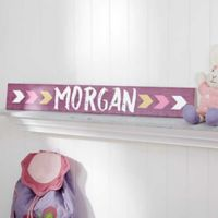 Tribal Inspired Name Wooden Sign For Her