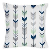 Sweet Jojo Designs Mod Arrow Print Throw Pillows in Grey/Mint (Set of 2)
