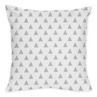 Sweet Jojo Designs Mod Arrow Triangle Print Throw Pillows in Grey/White (Set of 2)