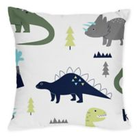 Sweet Jojo Designs Mod Dinosaur Throw Pillows in Blue/Green (Set of 2)