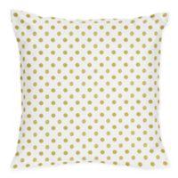 Sweet Jojo Designs Amelia Metallic Gold Polka Dot Throw Pillows (Set of 2)