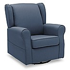 Delta Children Reston Glider Swivel Rocker in Sailor Blue