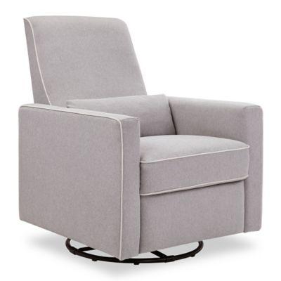 Furniture \u003e DaVinci Piper All-Purpose Upholstered Glider Recliner in Grey with Cream Piping  sc 1 st  buybuy BABY & Baby Recliner from Buy Buy Baby islam-shia.org