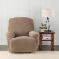 Sure Fit® Pixel Corduroy Recliner Cover in Taupe