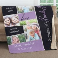 My Favorite Faces 50-Inch x 60-Inch Premium Sherpa Throw Blanket