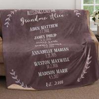 Our Grandchildren 50-Inch x 60-Inch Premium Sherpa Throw Blanket