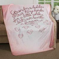 Grandchildren Fill Our Hearts 50-Inch x 60-Inch Premium Sherpa Throw Blanket