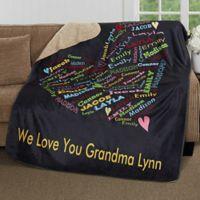 Her Heart Of Love 50-Inch x 60-Inch Premium Sherpa Throw Blanket