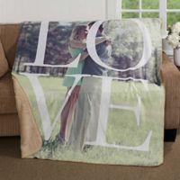 LOVE 50-Inch x 60-Inch Premium Sherpa Throw Blanket