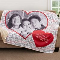 Love You This Much 60-Inch x 80-Inch Premium Sherpa Throw Blanket