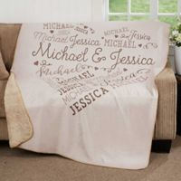 Our Loving Heart 50-Inch x 60-Inch Premium Sherpa Throw Blanket