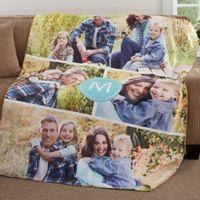 Photo Collage 50-Inch x 60-Inch Premium Sherpa Throw Blanket