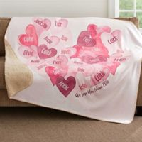 Our Hearts Combined 60-Inch x 80-Inch Premium Sherpa Throw Blanket