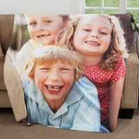 Picture Perfect 50-Inch x 60-Inch Premium Sherpa Throw Blanket