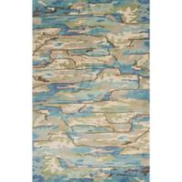 KAS Whisper 5-Foot x 8-Foot Area Rug in Beige/Blue Landscapes