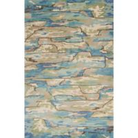 KAS Whisper 7-Foot 9-Inch x 9-Foot 9-Inch Area Rug in Beige/Blue Landscapes