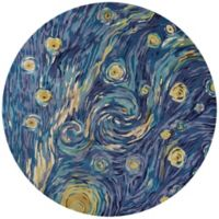 KAS Whisper 8-Foot Round Area Rug in Blue Twilight