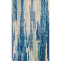 KAS Whisper 9-Foot x 13-Foot Area Rug in Ivory/Blue Brushstroke