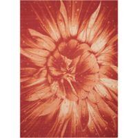 Nourison Coastal Bloom Indoor/Outdoor 5'3 x 7'5 Area Rug in Red