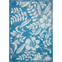 Nourison Coastal Floral Indoor/Outdoor 7'9 x 10'10 Area Rug in Blue