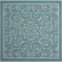 """Nourison Home & Garden Indoor/Outdoor 6'6"""" x 6'6"""" Area Rug in Light Blue"""