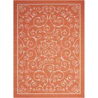 Nourison Home & Garden Indoor/Outdoor 10'x 13' Area Rug in Orange