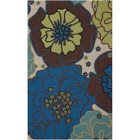 "Nourison Home & Garden Indoor/Outdoor 2'3"" x 3'9"" Accent Rug in Light Blue"