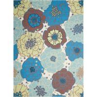 """Nourison Home & Garden Indoor/Outdoor 7'9"""" x 10'10"""" Area Rug in Light Blue"""
