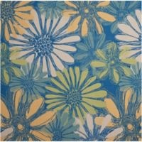 """Nourison Home & Garden Indoor/Outdoor 8'6"""" x 8'6"""" Area Rug in Blue"""