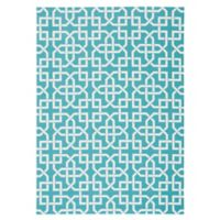 Nourison Home & Garden Indoor/Outdoor 10'x 13' Area Rug in Aqua