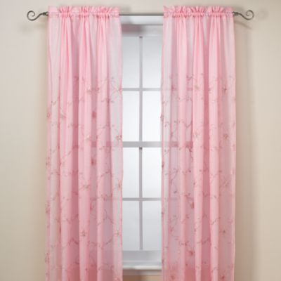 Laya Window Curtain Panel And Valance 63 Inch In Pink