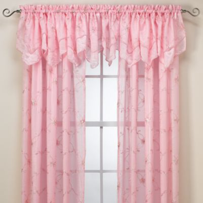 Laya Window Curtain Panel And Valance Pink