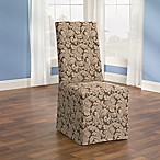 Sure Fit® Scroll Dining Chair Cover in Brown