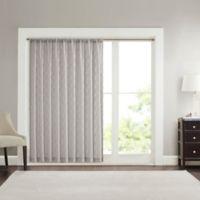 Madison Park Irina Diamond Sheer 84-Inch Rod Pocket Window Curtain Panel in Grey
