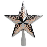 Northlight 8.5-Inch Lighted Star Christmas Tree Topper in Silver