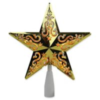 Northlight 8.5-Inch Lighted Star Christmas Tree Topper in Clear/Gold