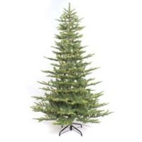 Puleo International 6.5-Foot Aspen Fir Pre-Lit Artificial Christmas Tree with Clear Lights