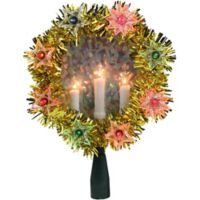 Northlight 7-Inch Lighted Christmas Tree Topper in Gold