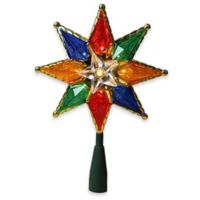 Northlight 8 Inch Multicolor Lighted Christmas Tree Topper With Clear Lights