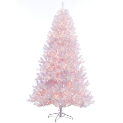 puleo international 75 foot northern white fir pre lit tree - Pre Lit White Christmas Tree
