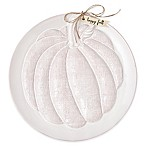 Mud Pie® Pumpkin Round Platter in White