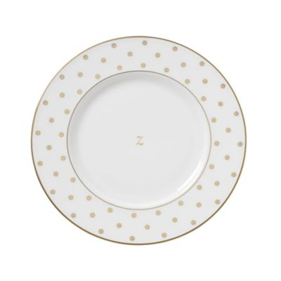 kate spade new york Larabee Road™ Gold Monogrammed Letter  Z  Accent Plate  sc 1 st  Bed Bath u0026 Beyond & Buy Monogrammed Dinnerware from Bed Bath u0026 Beyond