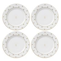 "kate spade new york Larabee Road™ Gold Monogrammed Letter ""Z"" Tidbit Plates (Set of 4)"