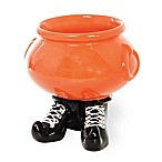 Boston International Witchy World Footed Candy Bowl in Orange